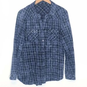 Rock & Republic | Plaid Button Up Shirt L